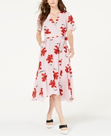 Alfani Petite Printed Wrap Dress, Created for Macy's
