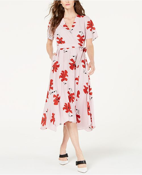 Alfani Petite Printed Wrap Dress, Created for Macy's