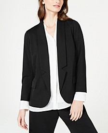 Petite Notch-Collar Blazer, Created for Macy's