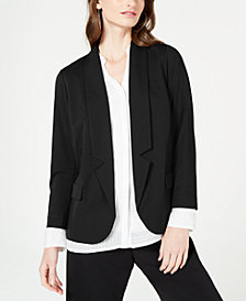 Alfani Petite Notch-Collar Blazer, Created for Macy's