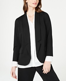 Alfani Notch-Collar Blazer, Created for Macy's