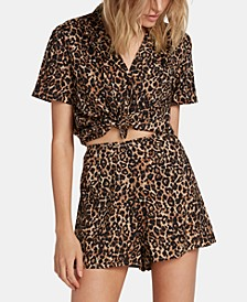 Juniors' Animal-Print Shorts
