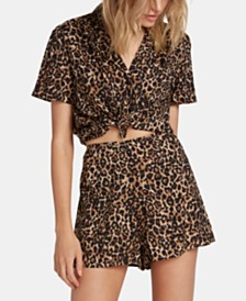 Volcom Juniors' Animal-Print Shorts