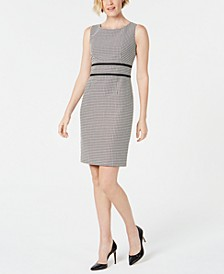 Geo-Print Contrast-Trim Dress