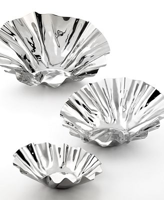 CLOSEOUT! Stainless Steel Tilted Bowl Collection