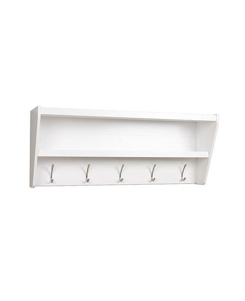 Prepac Floating Entryway Shelf Coat Rack