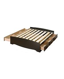 Prepac Full Mate's Platform Storage Bed with 6 Drawers