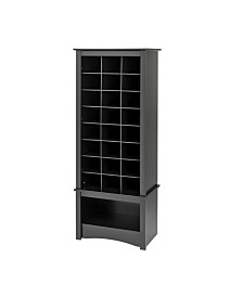 Prepac 24 Pair Shoe Storage Rack with Bottom Shelf