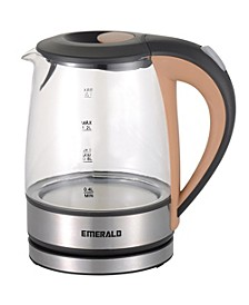 Emerald 1.2L Electric Glass Tea Kettle