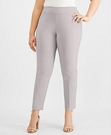 Plus & Petite Plus Size Tummy Control Slim-Leg Pants, Created for Macy's