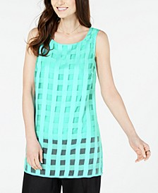 Plaid Illusion Tunic, Created for Macy's
