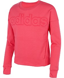 adidas Big Girls Embossed-Logo Sweatshirt