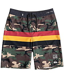 Quiksilver Big Boys Highline Hawaii Camo-Print Swim Trunks