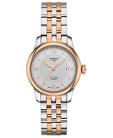 Tissot Women's Swiss Automatic Le Locle Two-Tone Stainless Steel Bracelet Watch 29mm