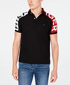 Tommy Hilfiger Men's Custom-Fit Ronny Colorblocked  Logo Sleeve Polo Shirt