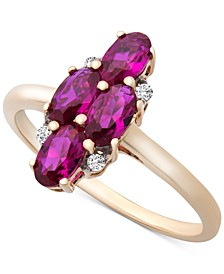 Certified Ruby (1-3/8 ct. t.w.) & Diamond Accent Ring in 14k Gold
