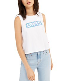 Levi's® Logo Cropped Tank Top