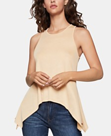 BCBGeneration Asymmetrical Twist-Back Top