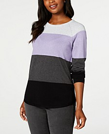 Colorblocked Pullover Sweater, Created for Macy's
