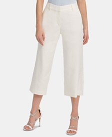 DKNY Cropped Wide-Leg Pants