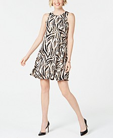 Petite Animal-Print Swing Dress