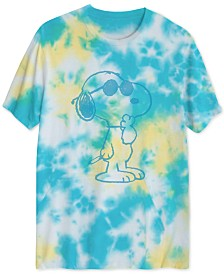 Snoopy Men's UV Sunlight Activated Tie Dyed T-Shirt