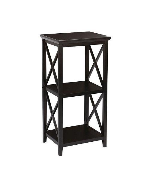 RiverRidge Home RiverRidge X- Frame Collection 3-Shelf Storage Tower