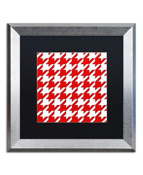 "Trademark Global Color Bakery 'Xmas Houndstooth 2' Matted Framed Art - 16"" x 16"""