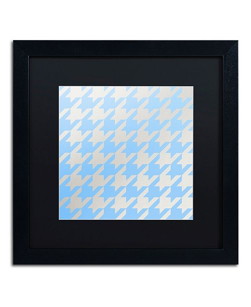 """Trademark Global Color Bakery 'Xmas Houndstooth 3' Matted Framed Art - 16"""" x 16"""""""