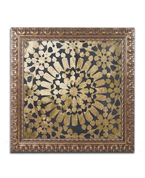 "Trademark Global Color Bakery 'Moroccan Gold III' Ornate Framed Art - 16"" x 16"""