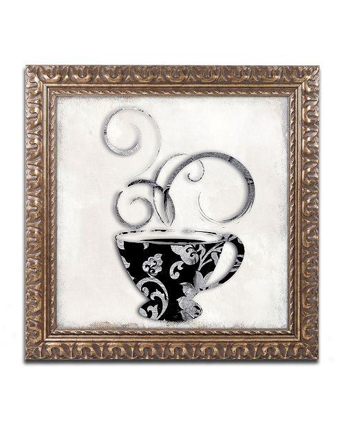 "Trademark Global Color Bakery 'Silver Brewed 2' Ornate Framed Art - 11"" x 11"""