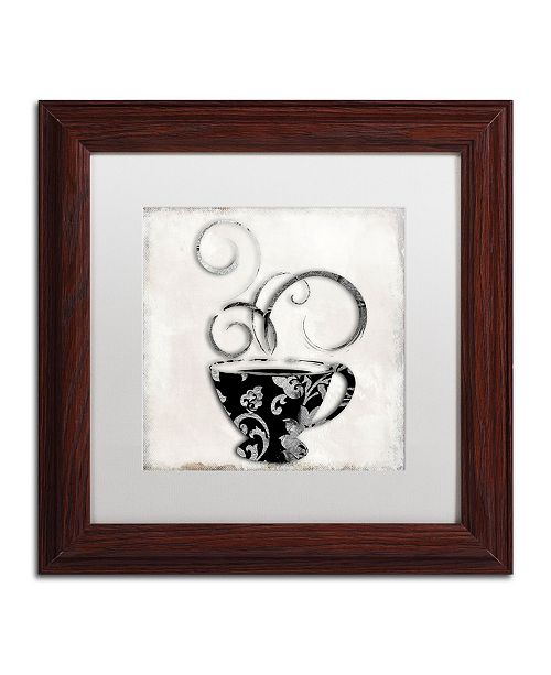 "Trademark Global Color Bakery 'Silver Brewed 2' Matted Framed Art - 11"" x 11"""