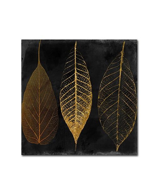 "Trademark Global Color Bakery 'Fallen Gold I' Canvas Art - 14"" x 14"""