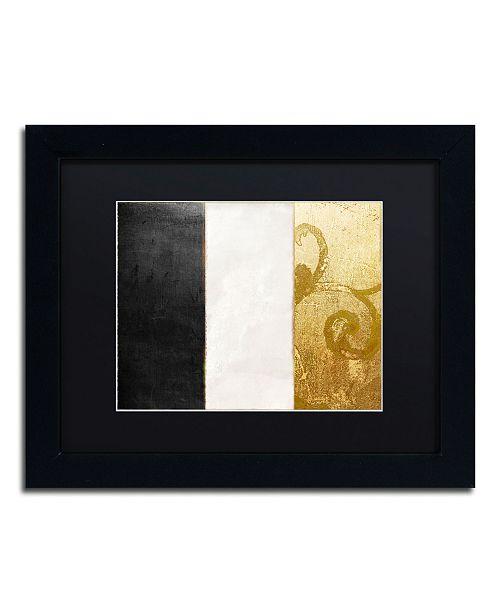 "Trademark Global Color Bakery 'Fashion Flag II' Matted Framed Art - 11"" x 14"""