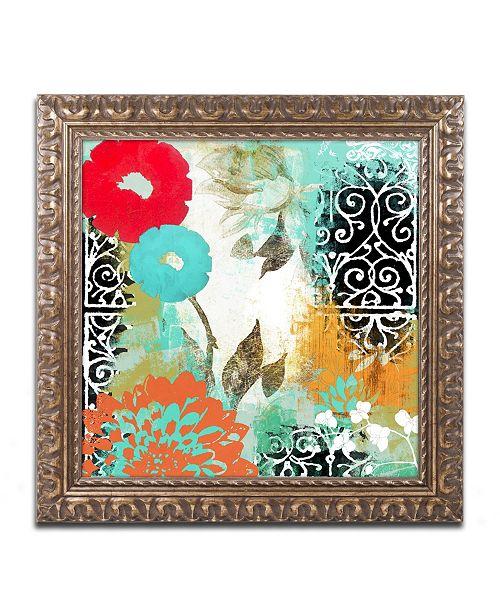 """Trademark Global Color Bakery 'Bali I' Ornate Framed Art - 16"""" x 16"""""""