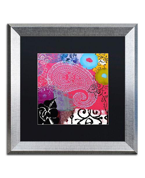 "Trademark Global Color Bakery 'Bali III' Matted Framed Art - 16"" x 16"""