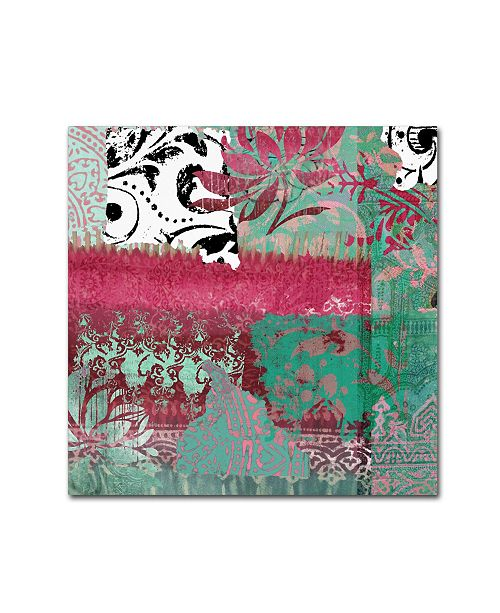 "Trademark Global Color Bakery 'Serendipity I' Canvas Art - 14"" x 14"""