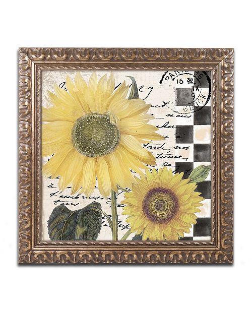 """Trademark Global Color Bakery 'Late Summer I' Ornate Framed Art - 16"""" x 16"""""""