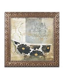 "Color Bakery 'Paris Bath I' Ornate Framed Art - 11"" x 11"""