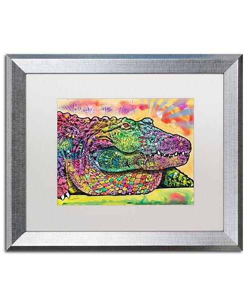 "Trademark Global Dean Russo 'Crocodile' Matted Framed Art - 16"" x 20"""