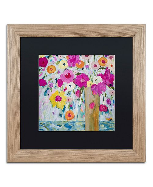 """Trademark Global Carrie Schmitt 'Sunshine Daydream' Matted Framed Art - 16"""" x 16"""""""