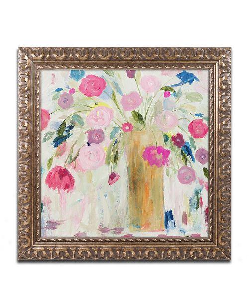 """Trademark Global Carrie Schmitt 'Friendship Blooms' Ornate Framed Art - 16"""" x 16"""""""