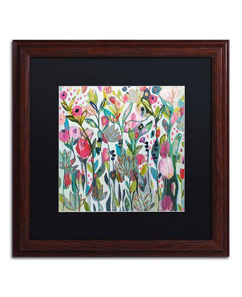 """Trademark Global Carrie Schmitt 'Protect Your Soul' Matted Framed Art - 16"""" x 16"""""""