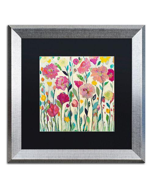 """Trademark Global Carrie Schmitt 'She Lived In Full Bloom' Matted Framed Art - 16"""" x 16"""""""