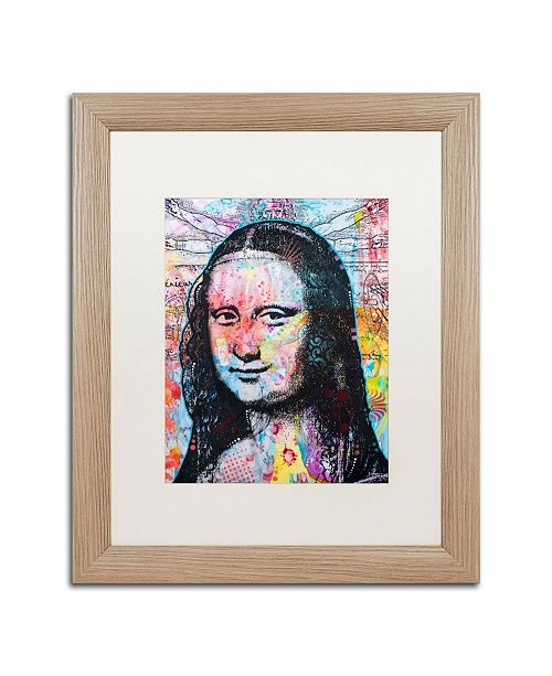 "Trademark Global Dean Russo 'Mona Lisa' Matted Framed Art - 16"" x 20"""