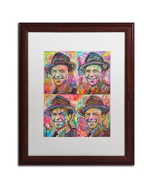 "Trademark Global Dean Russo 'Sinatra Quadrant' Matted Framed Art - 16"" x 20"""
