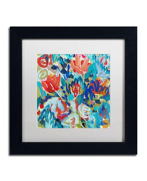 """Trademark Global Carrie Schmitt 'Asana' Matted Framed Art - 11"""" x 11"""""""