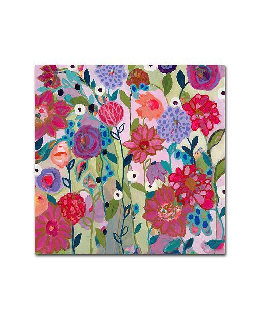 """Trademark Global Carrie Schmitt 'Adventures on the Garden Path' Canvas Art - 18"""" x 18"""""""
