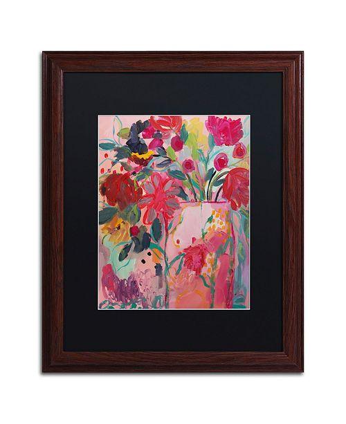 """Trademark Global Carrie Schmitt 'May Flowers' Matted Framed Art - 16"""" x 20"""""""