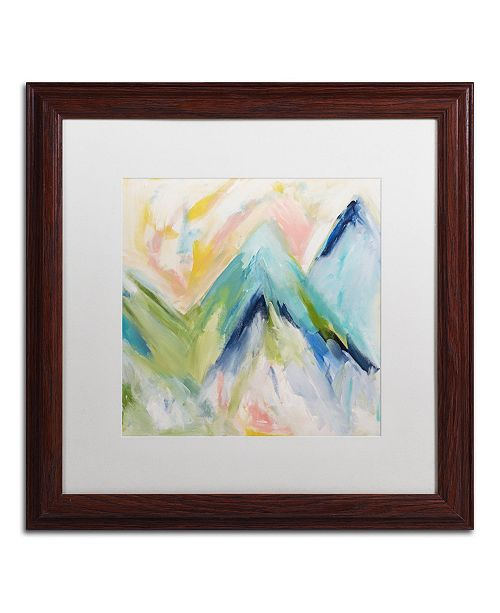 """Trademark Global Carrie Schmitt 'Denver Surprise' Matted Framed Art - 16"""" x 16"""""""